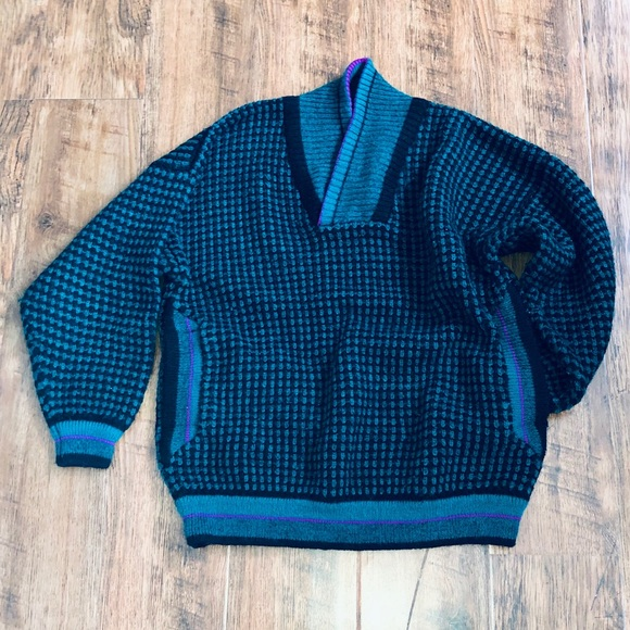 Vintage Grandpa Style Sweater